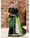Adorable Multi Colour Georgette Printed Saree