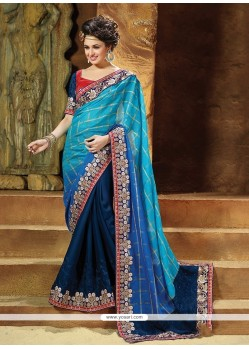 Mesmeric Patch Border Work Traditional Saree