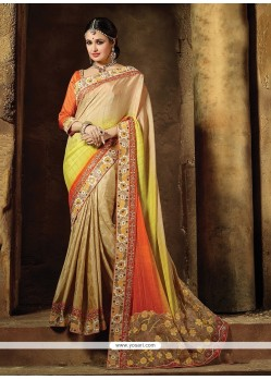 Energetic Pure Chiffon Embroidered Work Traditional Designer Sarees