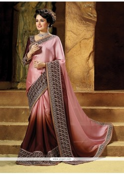 Bedazzling Embroidered Work Classic Saree