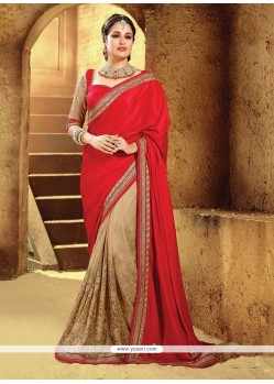 Enchanting Fancy Fabric Embroidered Work Traditional Saree