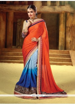 Suave Patch Border Work Georgette Classic Saree