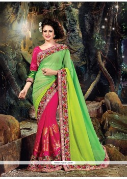 Spellbinding Georgette Embroidered Work Designer Traditional Sarees