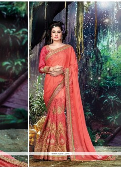 Pleasance Peach Traditional Saree