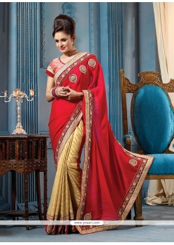 Bedazzling Patch Border Work Designer Traditional Sarees