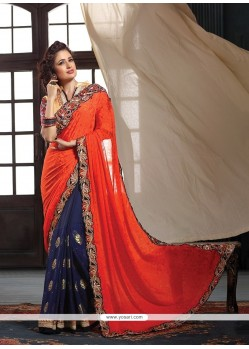 Ravishing Patch Border Work Classic Designer Saree