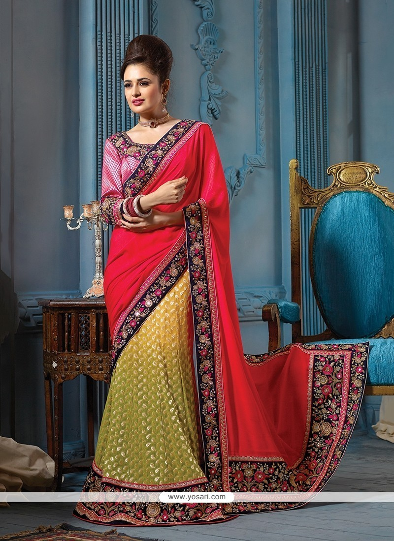 Ethnic Embroidered Work Viscose Traditional Saree