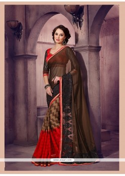 Beautiful Multi Colour Printed Saree