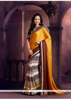 Fab Georgette Multi Colour Designer Saree