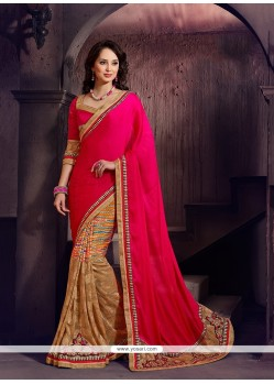 Mystic Net Patch Border Work Designer Saree