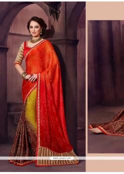 Pretty Chiffon Satin Designer Saree