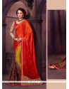 Pretty Chiffon Satin Designer Saree