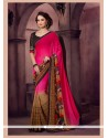 Auspicious Patch Border Work Georgette Printed Saree