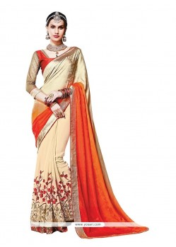 Invigorating Faux Crepe Traditional Saree