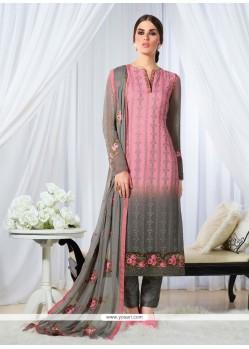 Sensible Resham Work Designer Straight Salwar Kameez