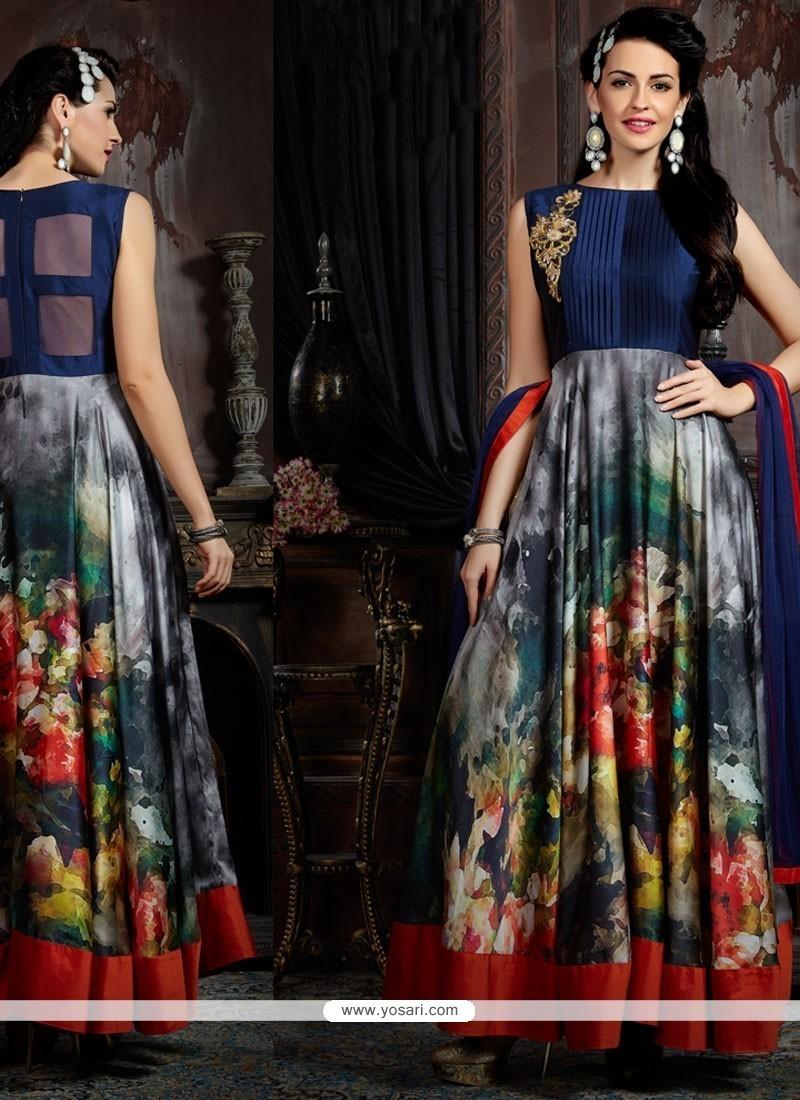 Subtle Embroidered Work Designer Gown
