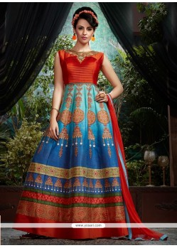 Monumental Banglori Silk Embroidered Work Designer Gown