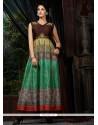 Flamboyant Banglori Silk Embroidered Work Multi Colour Designer Gown