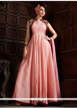 Modish Silk Pink Designer Gown