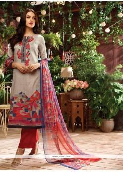 Peppy Multi Colour Print Work Designer Straight Salwar Kameez