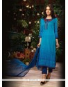 Graceful Print Work Designer Straight Salwar Kameez