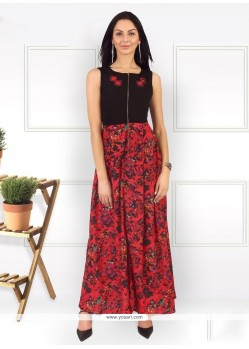 Sonorous Red Party Wear Kurti