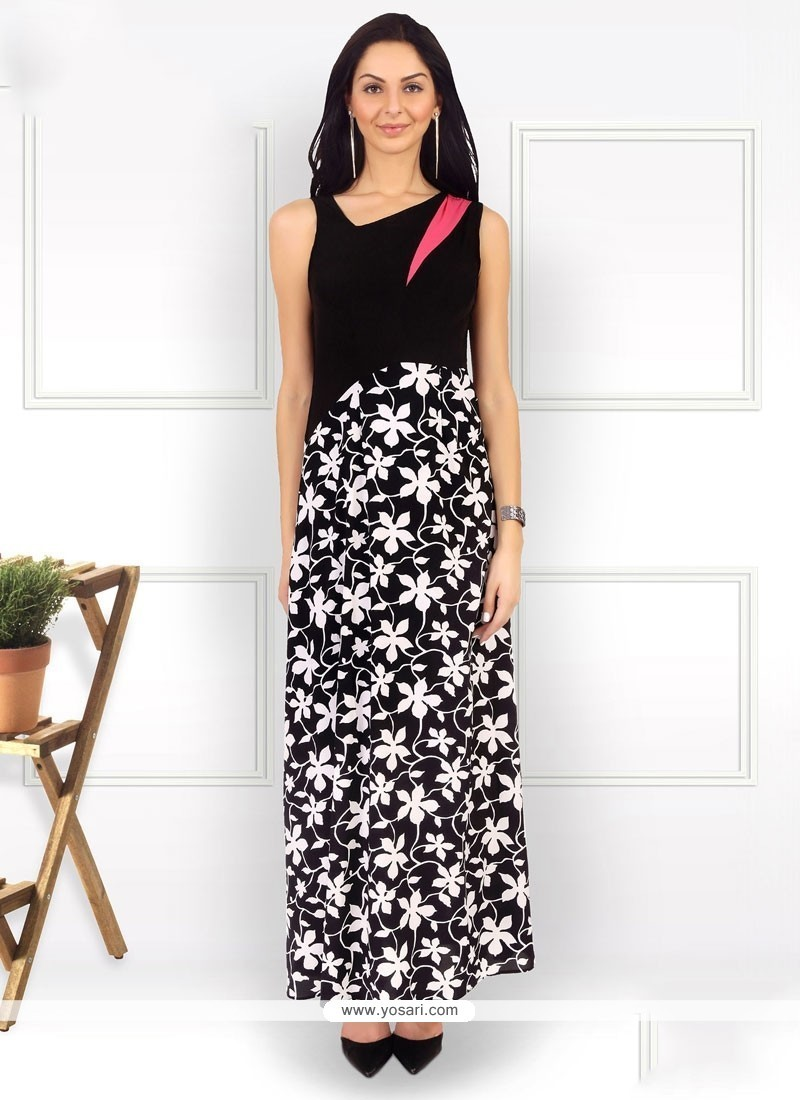 Ethnic Pure Crepe Party Wear Kurti