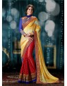 Red Pure Georgette Designer Saree