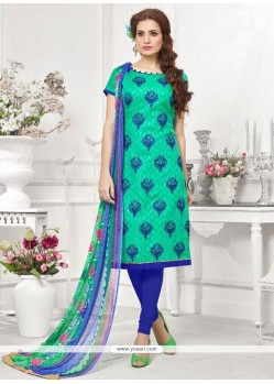 Competent Cotton Churidar Designer Suit