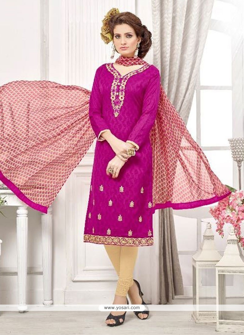 Intricate Embroidered Work Churidar Designer Suit