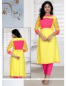 Spellbinding Yellow Georgette Casual Kurti