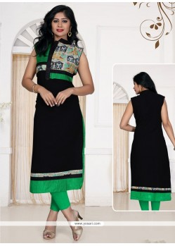 Black Georgette Casual Kurti