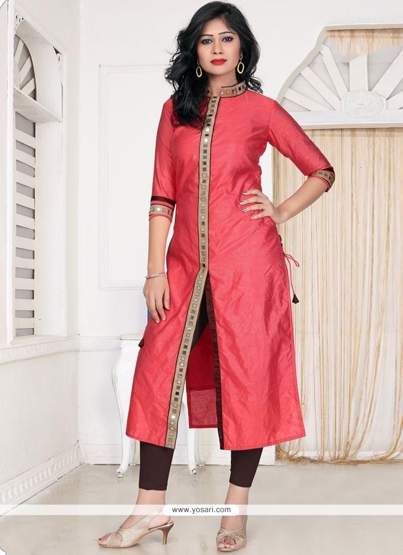 Buy Pink Banglori Silk Designer Kurti Online Malaysia