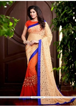 Urbane Patch Border Work Georgette Classic Saree