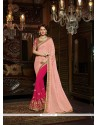 Ethnic Hot Pink Silk Classic Saree