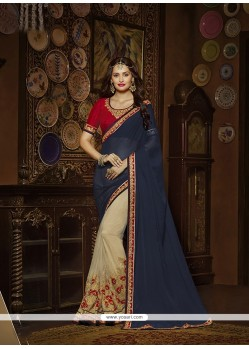 Radiant Silk Navy Blue Designer Saree