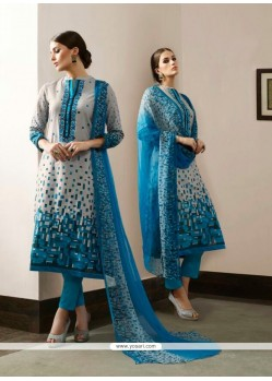 Excellent Cotton Satin Multi Colour Print Work Pant Style Suit