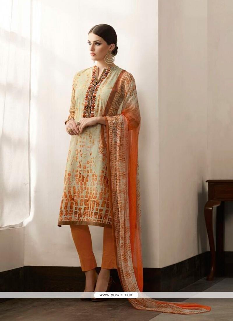 Haute Cotton Satin Print Work Pant Style Suit