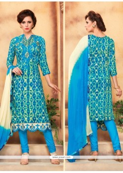 Lovable Blue Churidar Designer Suit