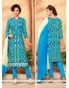 Lovable Blue Churidar Designer Suit