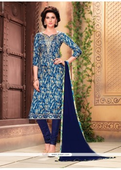 Entrancing Multi Colour Churidar Designer Suit