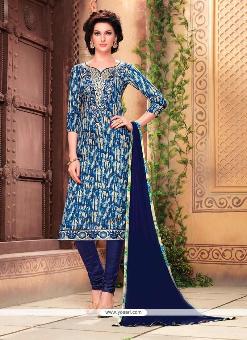 Entrancing Multi Colour Churidar Designer Suit