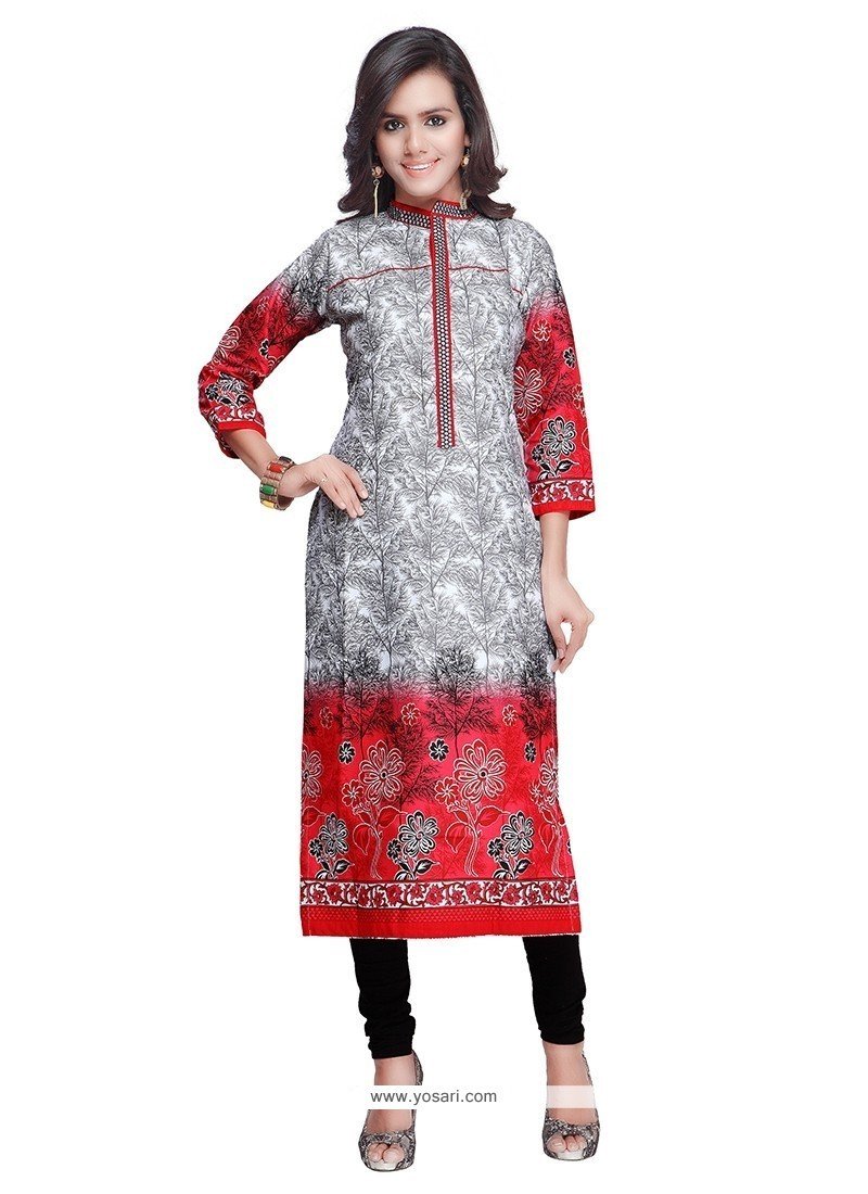 Perfect Red Designer Kurti