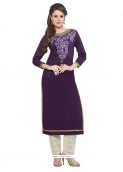 Enticing Cotton Party Wear Kurti