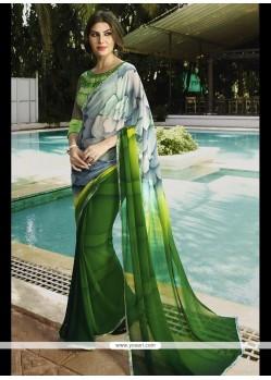 Phenomenal Georgette Multi Colour Print Work Printed Saree