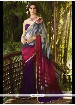 Wonderous Georgette Print Work Printed Saree