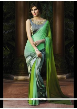 Modern Print Work Georgette Printed Saree