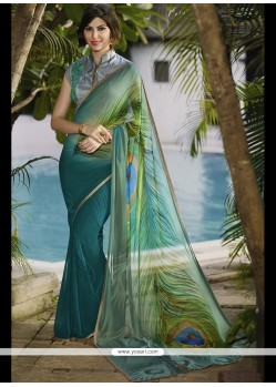 Adorable Georgette Print Work Printed Saree