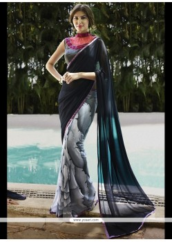 Noble Georgette Multi Colour Print Work Printed Saree