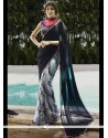 Noble Georgette Multi Colour Print Work Printed Saree